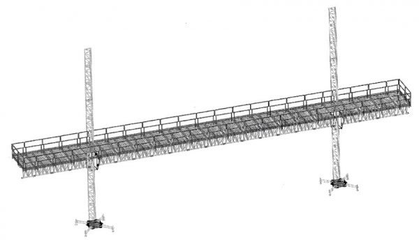 twin mast working platform