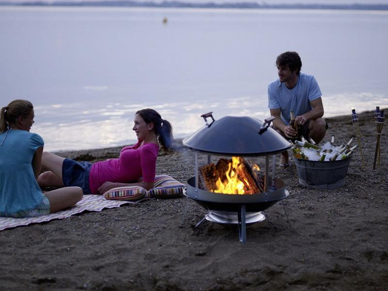 outdoor  - beach barbeque with friends